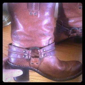 Frye Whiskey Carmen Harness Style Boots #77372